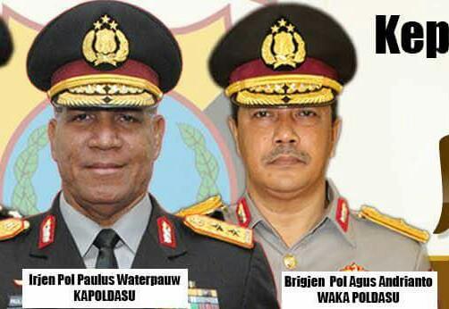 Kapoldasu Irjen Pol Waterpau dan Wakapoldasu Brigjen Agus Andrianto.