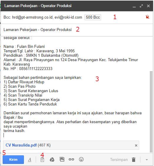 Tata Cara Mengirim Lamaran Via Email yang Baik dan Benar