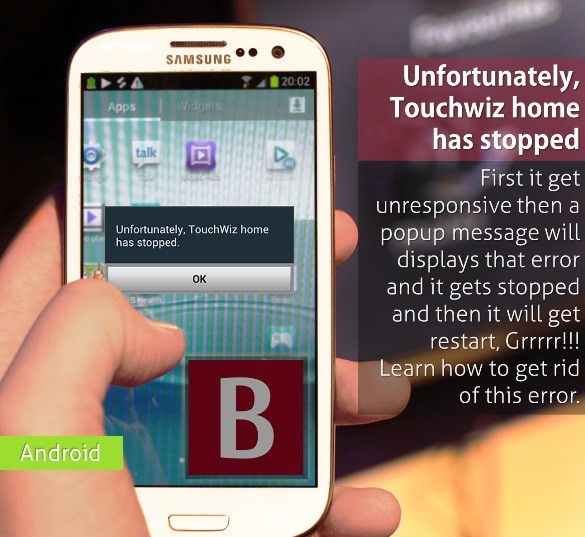Unfortunately, Touchwiz home has stopped solved