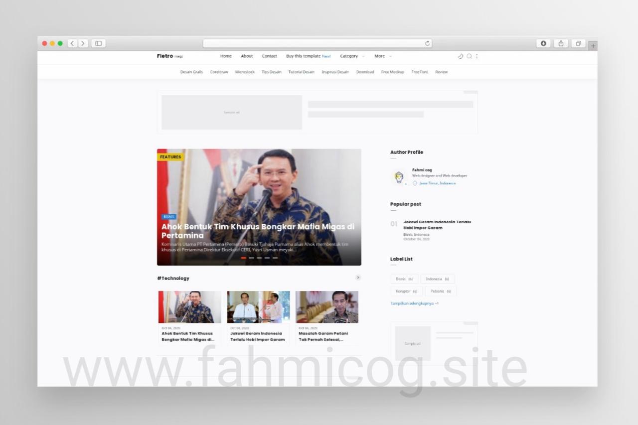 New Fletro Magz Profesional Blogger Template