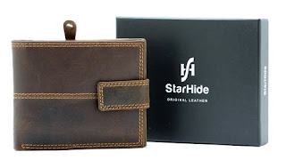 Mens Brown Distressed Hunter Leather Wallet, Gift Boxed By Starhide , £11.04 Limited time…