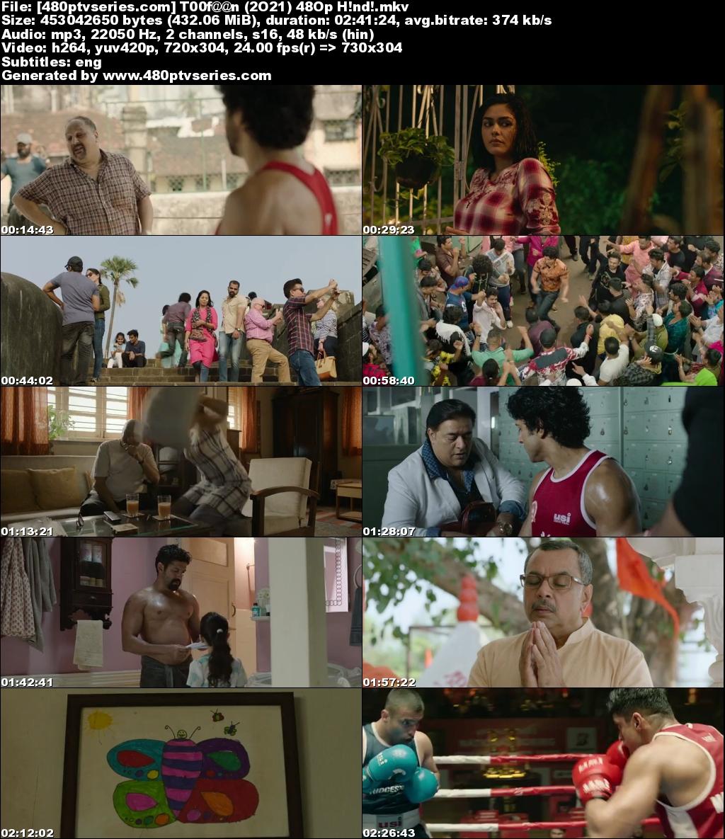 Toofaan (2021) Hindi 400MB WebRip 480p Free Watch Online Full Movie Download Worldfree4u 9xmovies