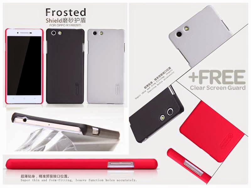 super popular 90210 dc025 Nillkin Frosted Super Shield Hard Case Oppo R1 R829 - AccHAPE: Jual ...