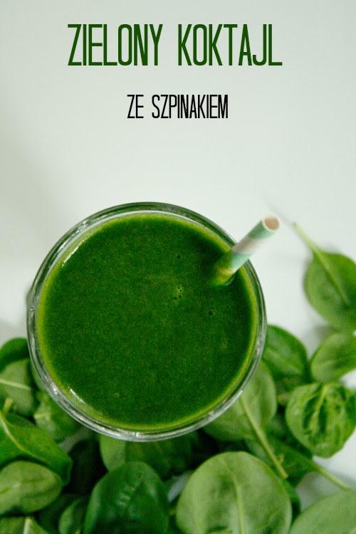Zielony koktajl ze szpinaku