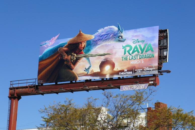 Disney Raya and the Last Dragon billboard