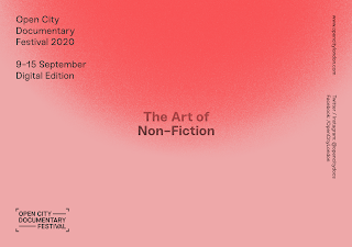 Open City Documentary Festival The Art of Non Fiction on a graded pink background