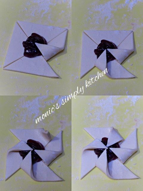 cara membuat pinwheel puff