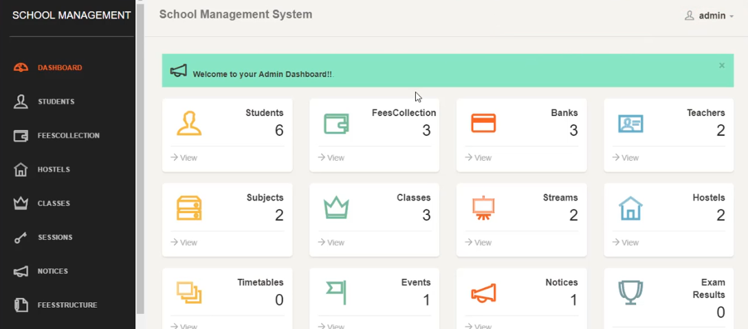 School Management System All Category Include Full Project | PHP