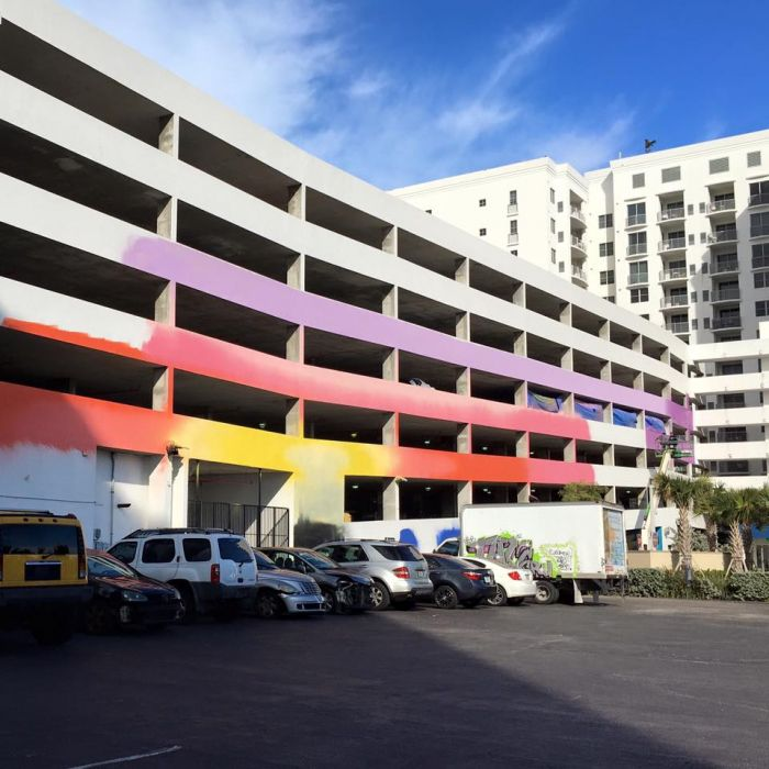 Downtown Hollywood Mural Project Of Miami Art Scene New Mural At Radius Garage Expands