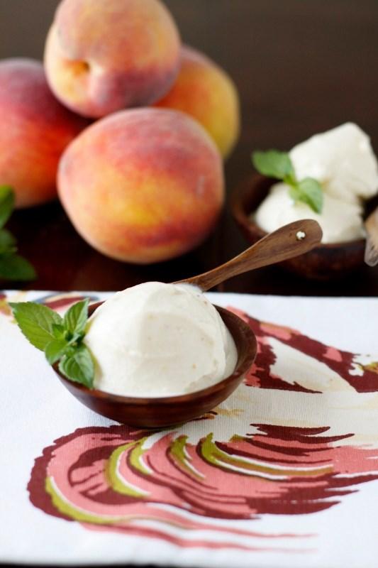 Grilled Peach Ice Cream