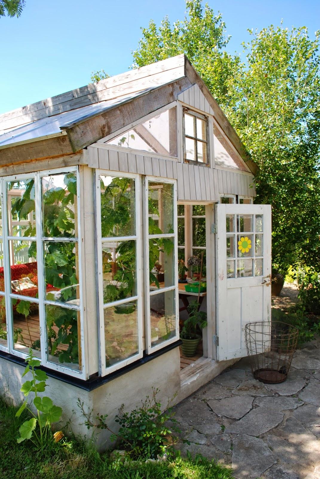 greenhouse kitchen window blue appliances old
