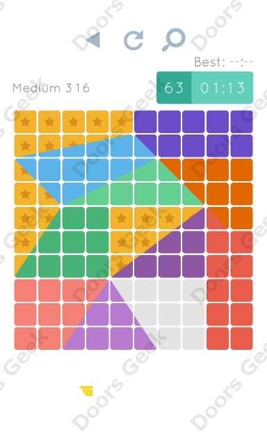 Cheats, Walkthrough for Blocks and Shapes Medium Level 316