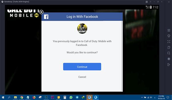 ربط حساب الفيسبوك مع لعبة كود موبايل