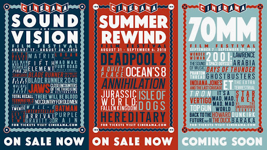 Seattle Cinerama's Sound & Vision, Summer Rewind and 70mm Film Festivals: Aug 17 - Sept 20