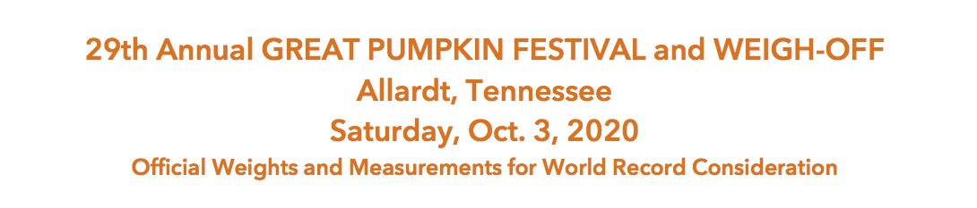 Allardt Great Pumpkin Festival and Weigh-off