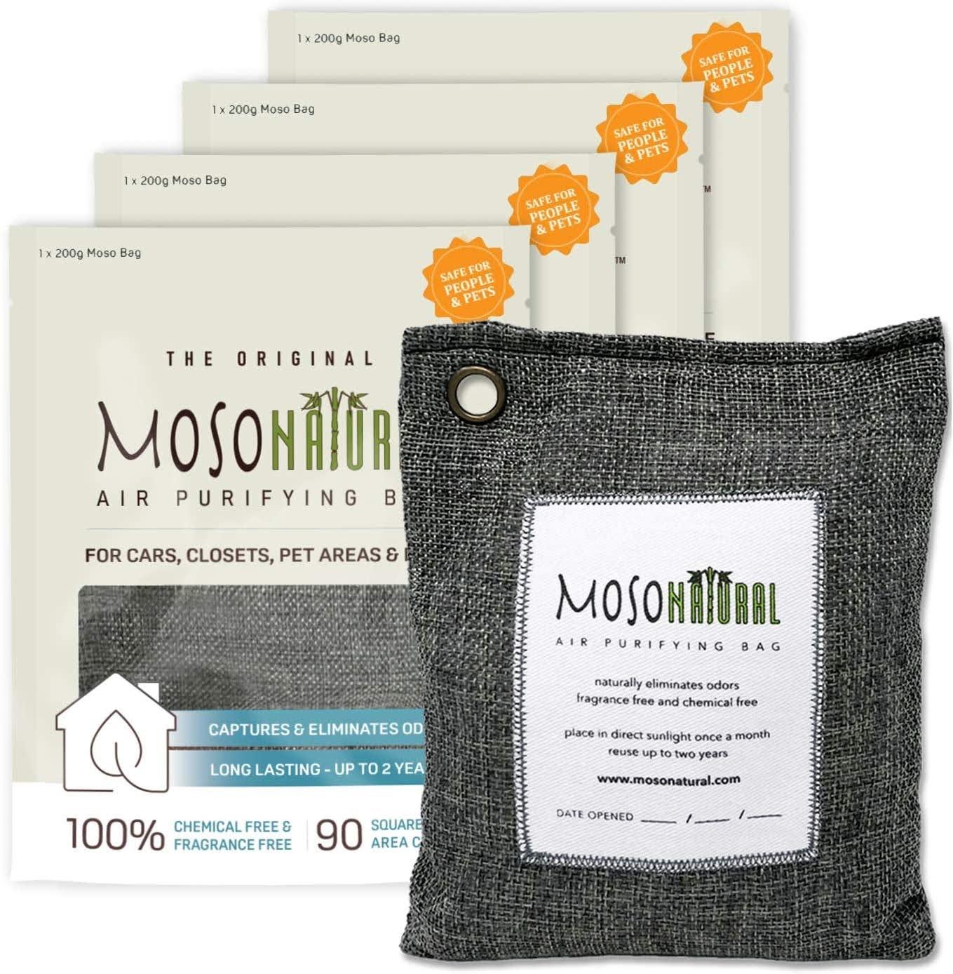 MOSO NATURAL: The Original Air Purifying Bag | Photo via Amazon