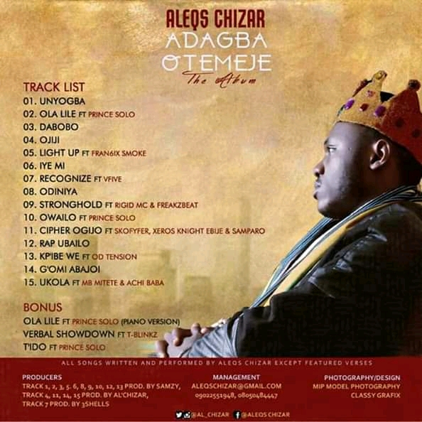 ALBUM: Aleqs Chizar - Adagba Otemeje Mp3 Download