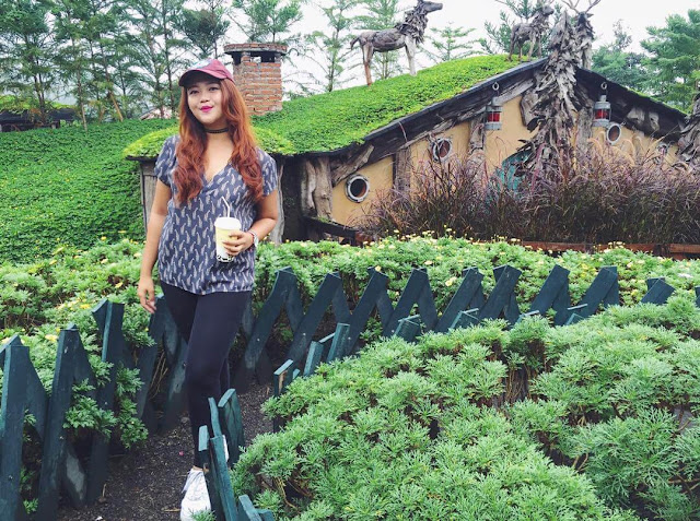 foto rumah hobbit farm house