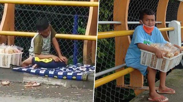 Kisah Haru Bocah Shalat di Trotoar yang Viral, Ditinggal Ayahnya Sejak Masih dalam Kandungan