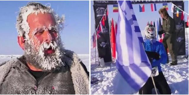 Για πρώτη φορά ο νικητής του μαραθωνίου στον Βόρειο Πόλο είναι... Έλληνας (βίντεο)
