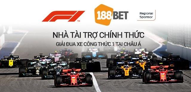 188BET Chính Thức Trở Thành Nhà Tài Trợ Cho Giải Đua Xe Công Thức 1 Tại Châu Á 1