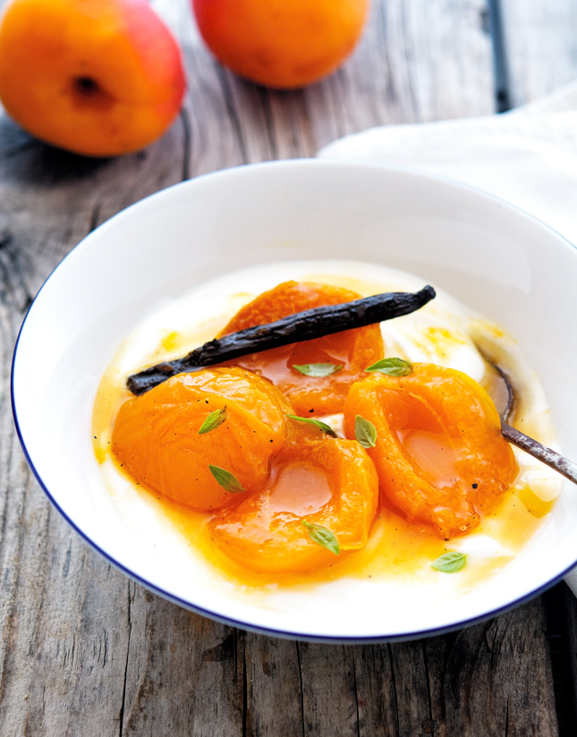 Ginger and Vanilla Bean Apricot Compote