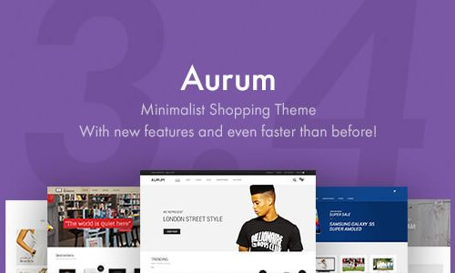 Aurum v3.4.9 Nulled - Minimalist Shopping Theme