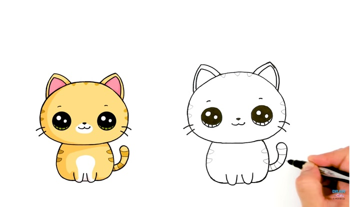 Cara Lukis Kucing (20 Gambar)