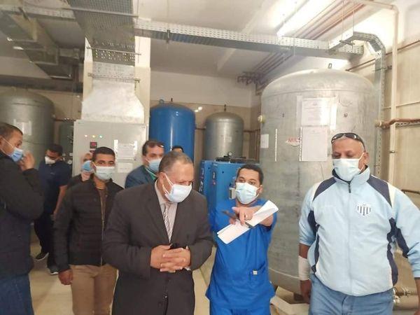 متابعات مستمرة للمستشفيات وشبكات الاكسجين بأسيوط / الأهرام نيوز