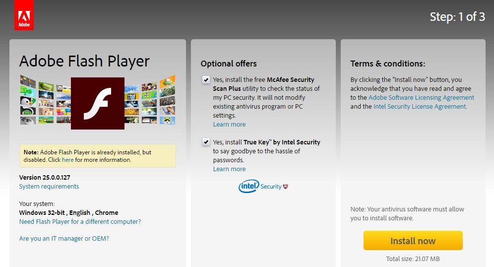 Download Adobe Flash Player Windows 7 32 bit / 64 bit Gratis