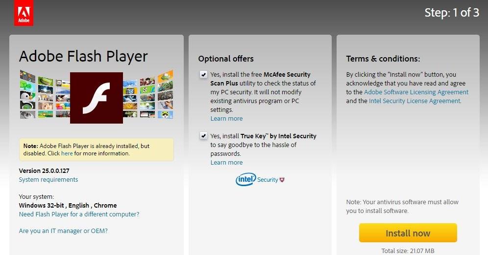 Download Adobe Flash Player Windows 7 32 bit / 64 bit ...