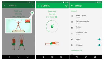 Aplikasi workout Android dan Ios 7 menit latihan