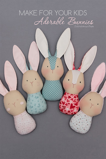DIY how to make baby bunny toys