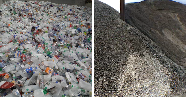 Как в Британии мусор из пластиковых бутылок превращают в суперпрочные дороги