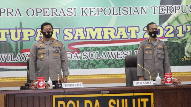 Latpraops Ketupat Samrat 2021 Dibuka Langsung Oleh Kapolda Sulut Irjen Pol Nana Sudjana