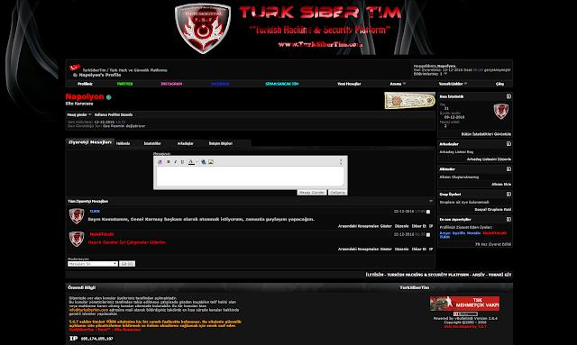 Vbulletin Turk Hack Team Teması Profil