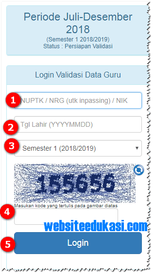 Info GTK Semester 1 Tahun Pelajaran 2018/2019