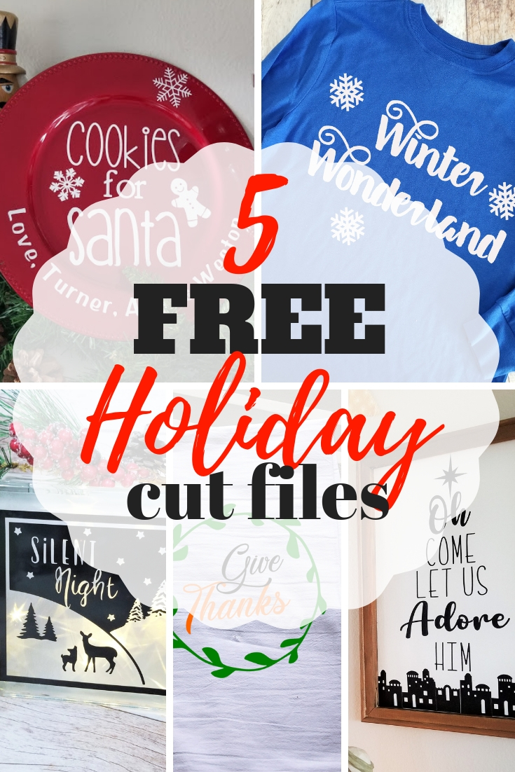 Easy Holiday Cricut Project Ideas 5 Free Cut Files Sew