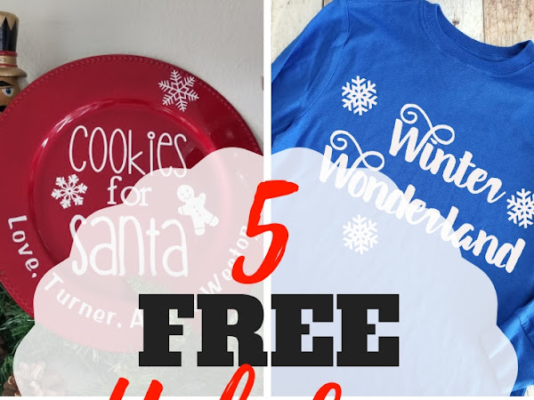 Easy Holiday Cricut Project Ideas + 5 Free Cut Files