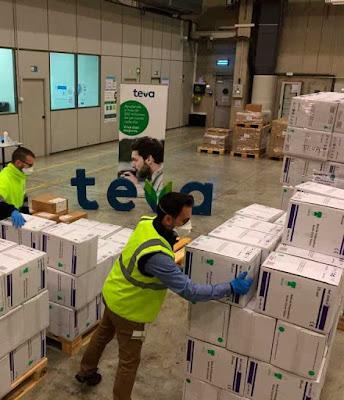 Donación soliddaria de farmacéuticos TEVA