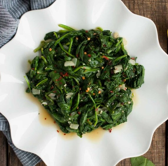 Easy Sauteed Spinach #vegan #paleo