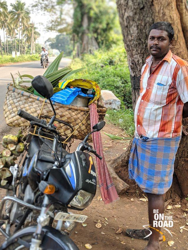 Raja - the guy who sells Nongu and Padhani near Courtrallam, Tamil Nadu