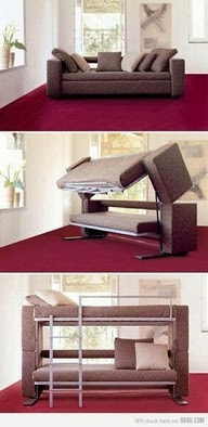 Mechanically Adjustable Sofa,Foldable into bed.