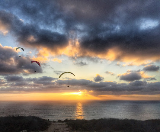 Travel Photos Series#21-Sunset at Torrey Pines Gliderport