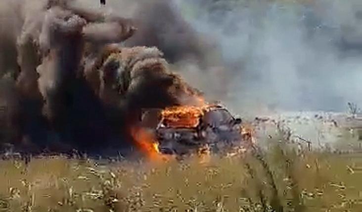 Πυρκαγιά σε αυτοκίνητο στην Ιτέα Φερών που μετέφερε μετανάστες