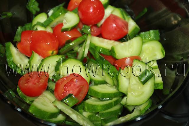 рецепт простого овощного салата с пошаговыми фото