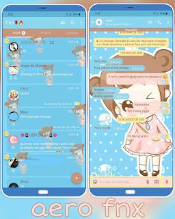 Cute Anime Girl Theme For YOWhatsApp & Aero WhatsApp By Ave fénix