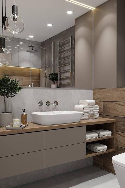 banheiro chique moderno elegante suite casal