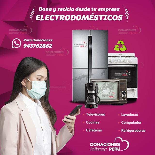 Recicla y dona electrodomesticos