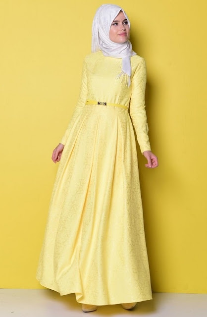 فستان سهرة و سواريه اصفر اللون موديل 2020